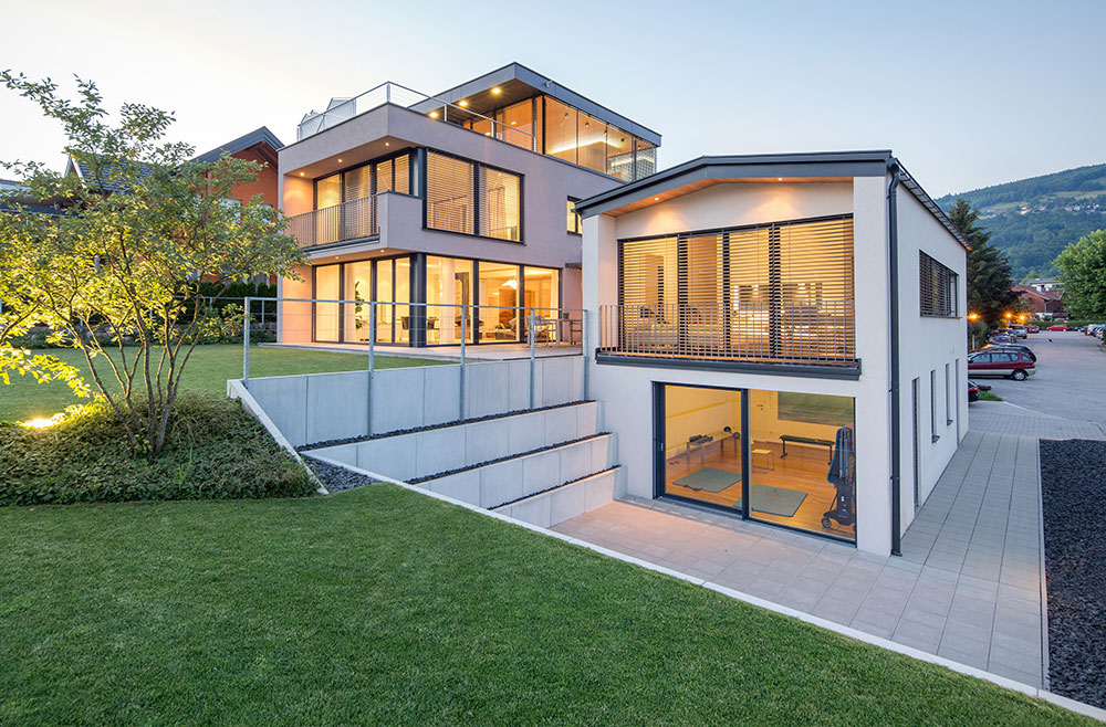 Haus h erweiterung architekt dipl ing matthias viehhauser salzburg sterreich - Architektur kubus ...