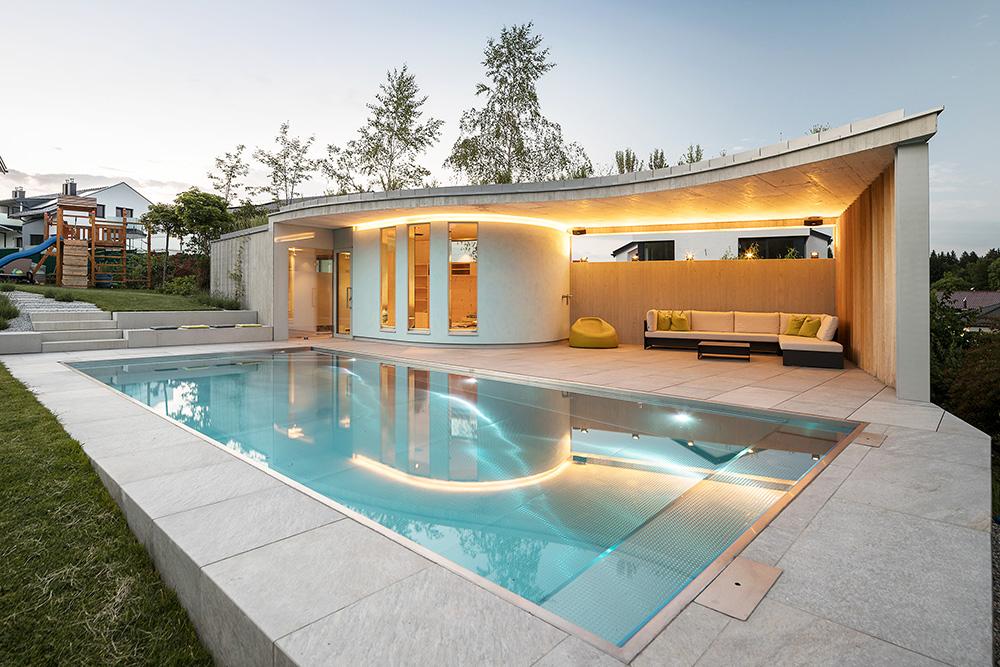 poolhaus gesamtansicht pool house plans